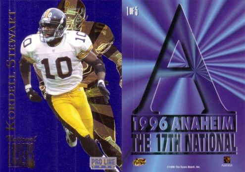 Kordell Stewart 1996 Pro Line Lasers National Convention promo card