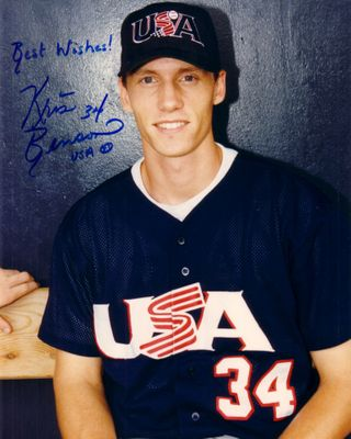 Kris Benson autographed 8x10 Team USA photo