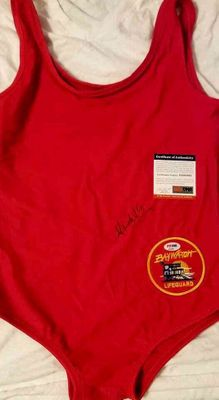 Krista Allen autographed red Baywatch Lifeguard swimsuit (PSA/DNA)