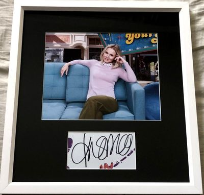 Kristen Bell autograph matted and framed with The Good Place 8x10 photo