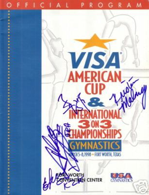 Kristen Maloney (2000 USA Olympic Gymnastics Team) autographed 1998 Visa American Cup program