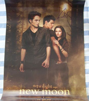 Kristen Stewart autographed Twilight New Moon mini 11x17 movie poster