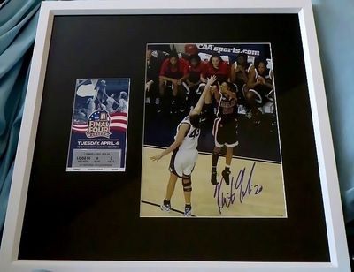 Kristi Toliver autographed Maryland Terrapins 2006 NCAA Championship winning shot matted & framed with ticket