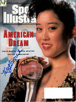 Kristi Yamaguchi autographed 1992 Olympic ice skating gold medal Sports Illustrated