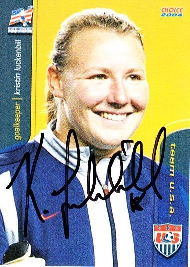 Kristin Luckenbill autographed 2004 U.S. Soccer card like element