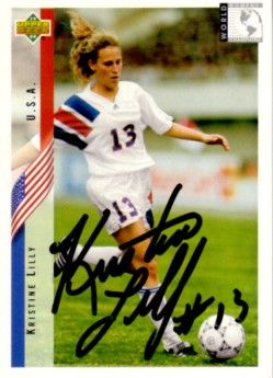Kristine Lilly autographed 1994 Upper Deck U.S. Soccer Rookie Card