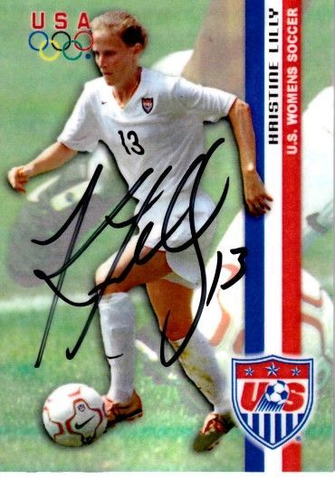 Kristine Lilly autographed 2000 U.S. Olympic Women's Soccer Team Roox card