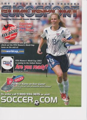Kristine Lilly autographed 2003 U.S. National Team Eurosport catalog cover