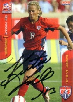 Kristine Lilly autographed 2004 U.S. Soccer card
