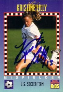 Kristine Lilly autographed US Soccer 1994 Sports Illustrated for Kids Rookie Card