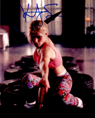 Kristy Swanson autographed Buffy the Vampire Slayer 8x10 action photo
