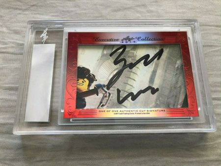 Kumail Nanjiani and Zach Woods 2017 Leaf Masterpiece Cut Signature certified autograph card 1/1 JSA Silicon Valley
