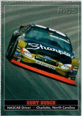 Kurt Busch 2005 Sports Illustrated for Kids NASCAR card