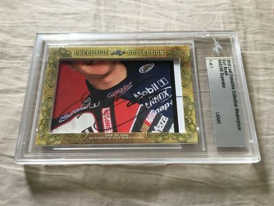 Kurt Busch 2018 Leaf Masterpiece Cut Signature certified autograph card 1/1 JSA