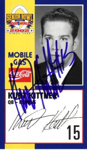 Kurt Kittner autographed Illinois 2002 Senior Bowl card