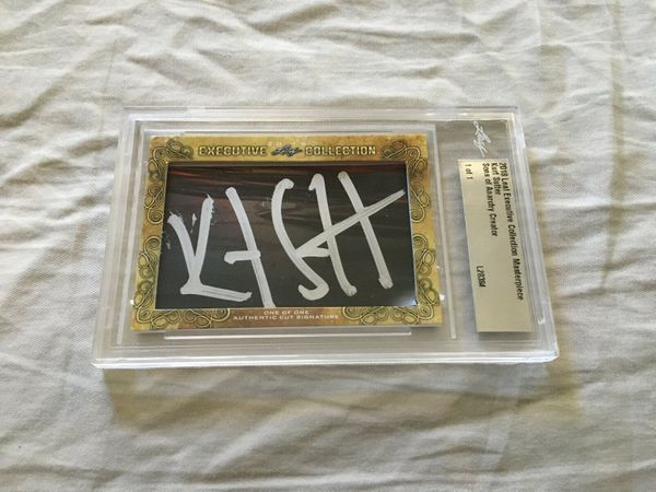 Kurt Sutter 2018 Leaf Masterpiece Cut Signature certified autograph card 1/1 JSA Sons of Anarchy