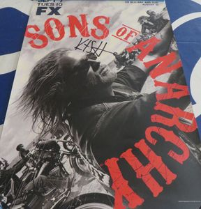 Kurt Sutter autographed Sons of Anarchy 2010 Comic-Con poster