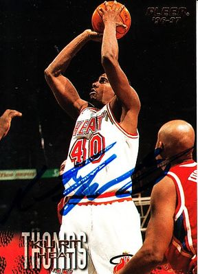 Kurt Thomas autographed Miami Heat 1996-97 Fleer card
