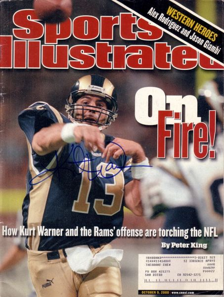 Kurt Warner autographed St. Louis Rams 2000 Sports Illustrated