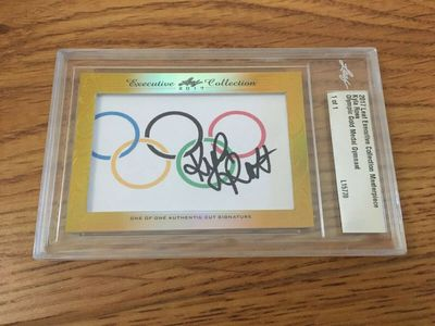 Kyla Ross 2017 Leaf Masterpiece Cut Signature certified autograph card 1/1 JSA