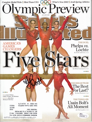 Kyla Ross autographed Fierce Five 2012 Olympics Preview Sports Illustrated (JSA)