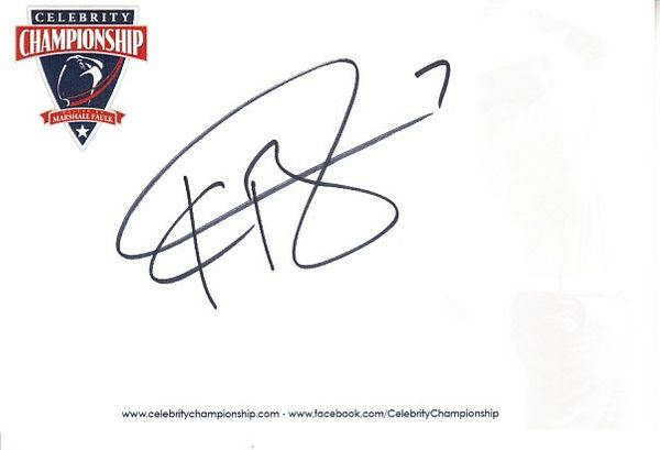 Kyle Boller autographed 4x6 inch signature card