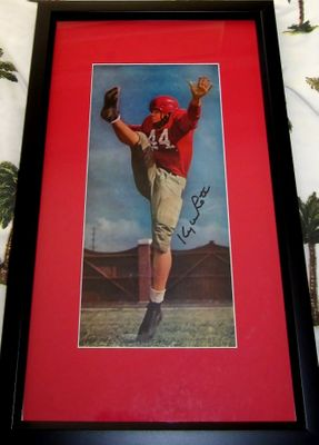 Kyle Rote autographed SMU Mustangs vintage football magazine photo matted and framed