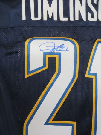 LaDainian Tomlinson autographed San Diego Chargers 2007 authentic Reebok stitched GAME MODEL jersey