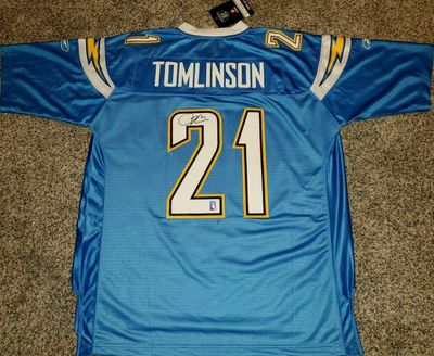 LaDainian Tomlinson autographed San Diego Chargers authentic Reebok stitched jersey