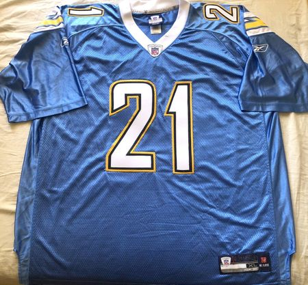 LaDainian Tomlinson San Diego Chargers 2007 2008 2009 authentic Reebok powder blue stitched jersey