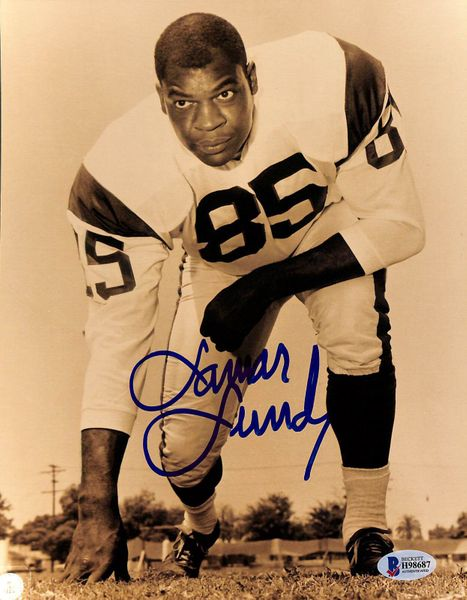 Lamar Lundy autographed Los Angeles Rams 8x10 photo (BAS authenticated)