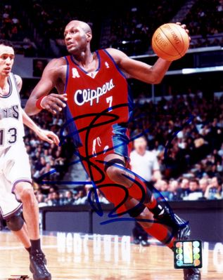 Lamar Odom autographed Los Angeles Clippers 8x10 photo