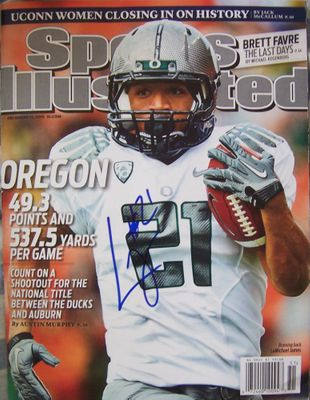 LaMichael James autographed Oregon Ducks 2010 Sports Illustrated