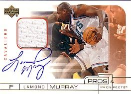 Lamond Murray certified autograph Cleveland Cavaliers card with jersey swatch