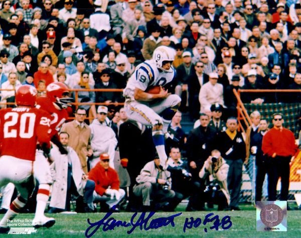 Lance Alworth autographed San Diego Chargers 8x10 action photo inscribed HOF 78