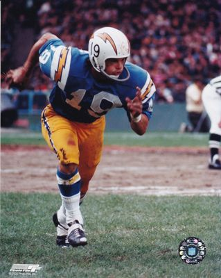 Lance Alworth 8x10 San Diego Chargers color photo (Photofile)