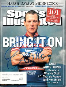 Lance Armstrong autographed 2004 Sports Illustrated (Schwartz Sports)
