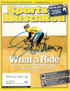 Lance Armstrong autographed 2005 Sports Illustrated (Schwartz Sports)
