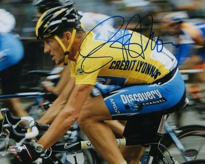 Lance Armstrong autographed Tour de France 8x10 photo (Schwartz Sports)