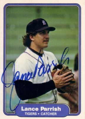 Lance Parrish autographed Detroit Tigers 1982 Fleer card
