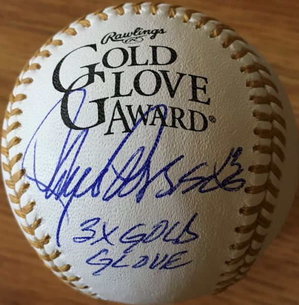 Lance Parrish autographed Rawlings Gold Glove baseball inscribed 3X Gold Glove