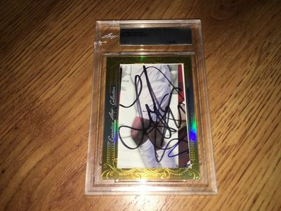 Landon Donovan 2016 Leaf Masterpiece Cut Signature certified autograph card 1/1 JSA