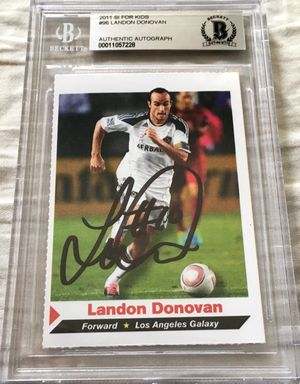 Landon Donovan autographed Los Angeles Galaxy 2011 Sports Illustrated for Kids soccer card Beckett Authenticated BAS