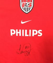 Landon Donovan autographed U.S. Soccer authentic Nike red long sleeve training jersey