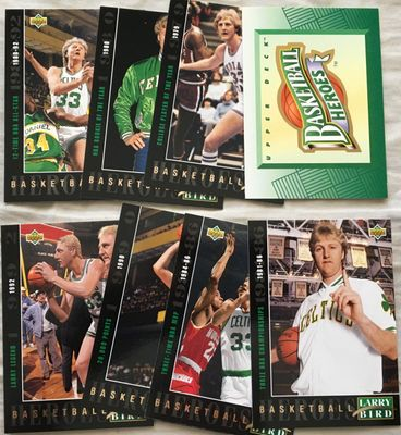 Larry Bird 1992-93 Upper Deck Basketball Heroes partial card set