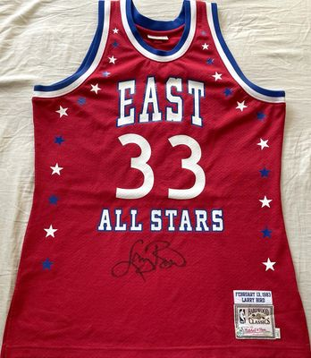 Larry Bird autographed 1983 NBA All-Star Game authentic Mitchell and Ness jersey (Schwartz Sports)