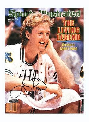Larry Bird autographed Boston Celtics 1986 Sports Illustrated cover print (UDA)