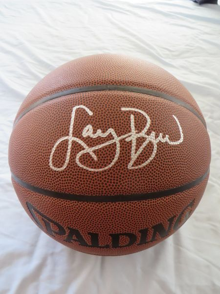 Larry Bird autographed Spalding NBA All Conference basketball
