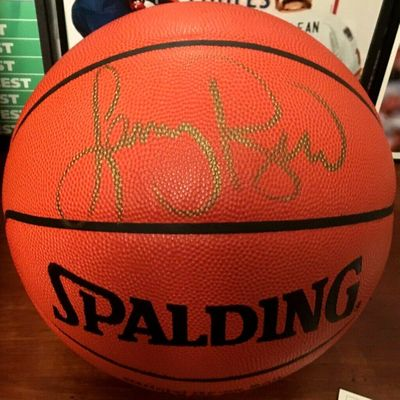 Larry Bird autographed Spalding NBA game model leather basketball (UDA)