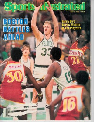 Larry Bird Boston Celtics 1983 and 1989 Sports Illustrated magazines
